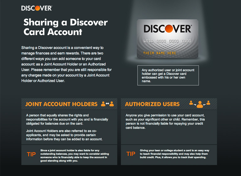 Discover Card Agreement Page