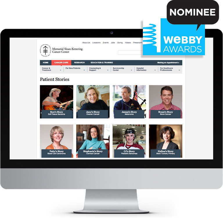 MSKCC Webby Awards Nominee