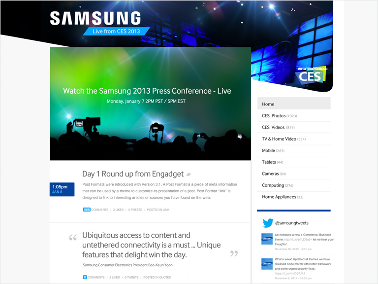 Live CES Samsung Press Conference