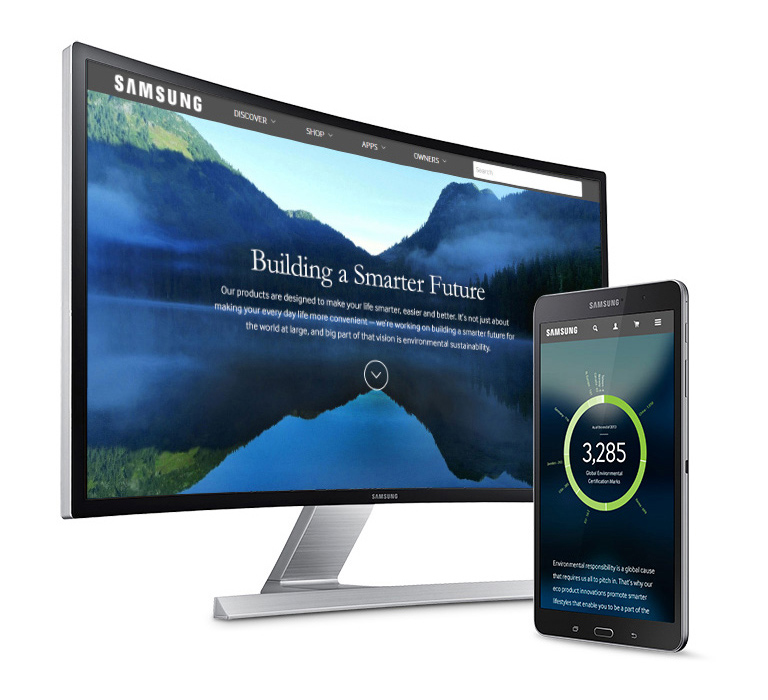 Samsung - building a smarter future homepage