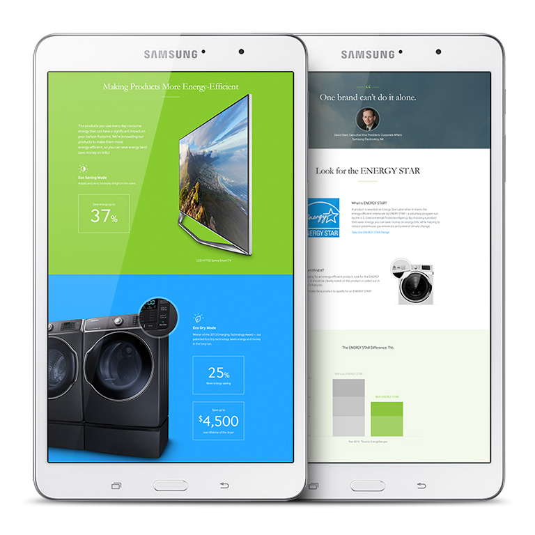 Samsung - building a smarter future tablet view 1