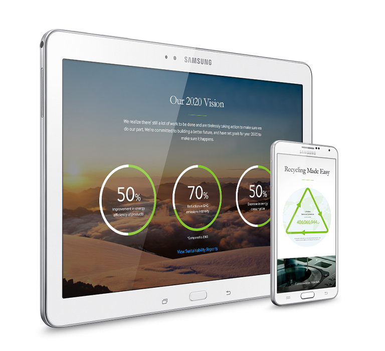 Samsung - building a smarter future tablet view 2
