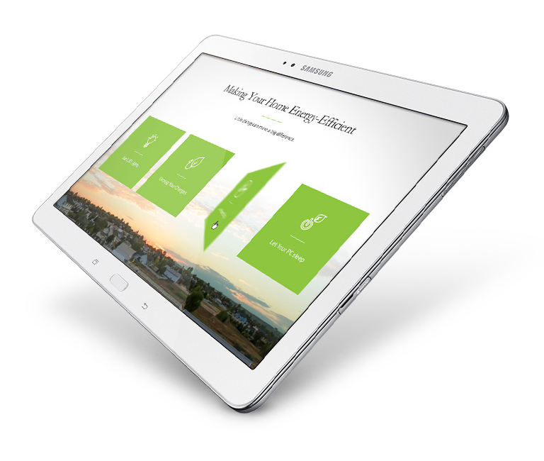 Samsung - building a smarter future tablet view 3