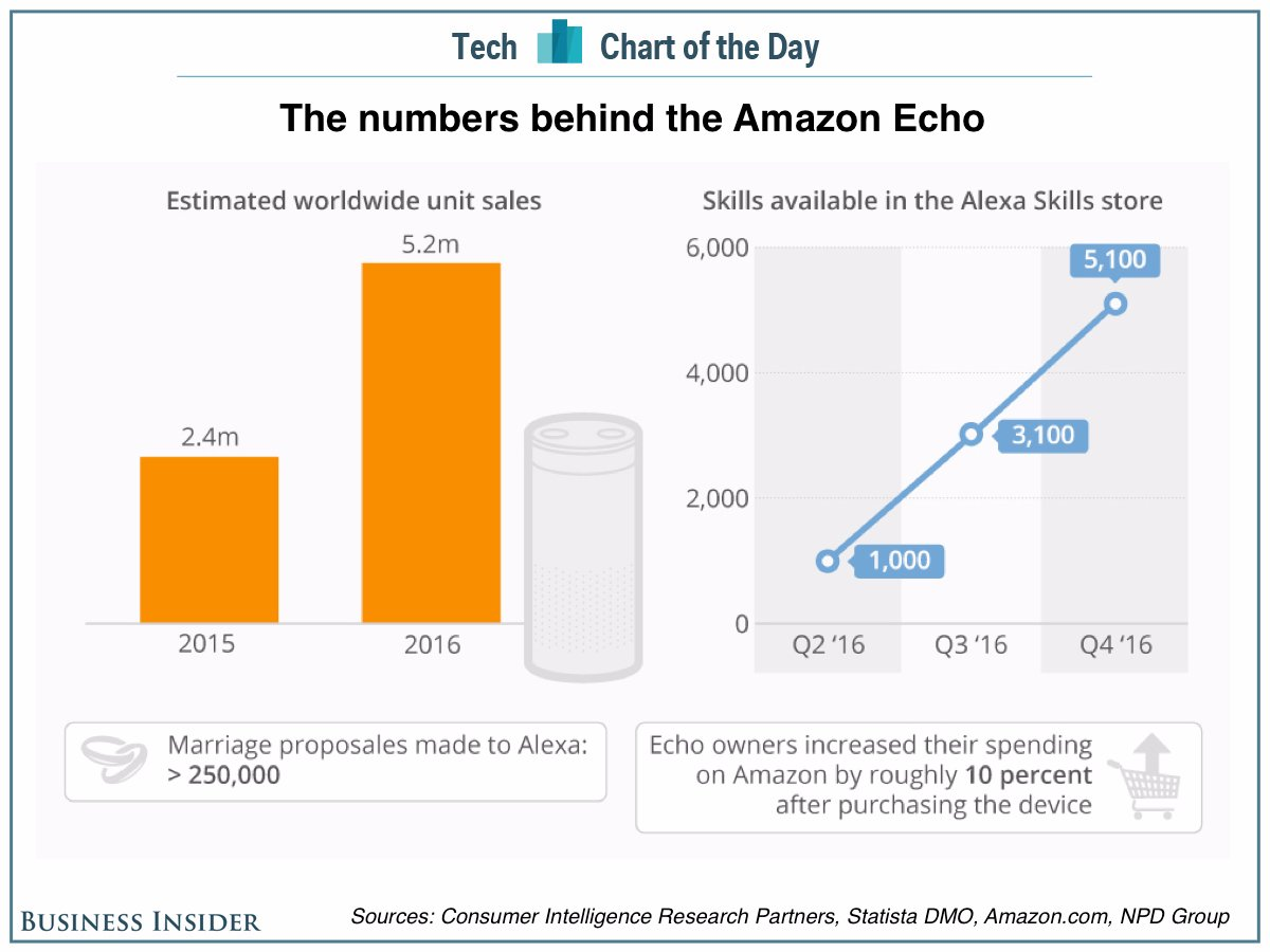 Chart showing the numbers behind Amazon Echo