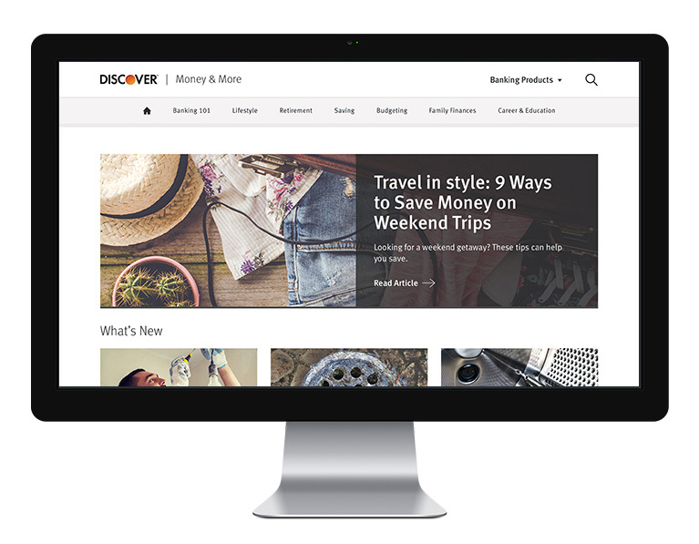 Redesigned Discover Modern Money Blog